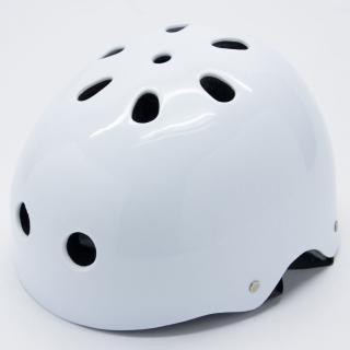 【D.L.D 多輪多】專業直排輪 溜冰鞋 自行車 安全頭盔(白)
