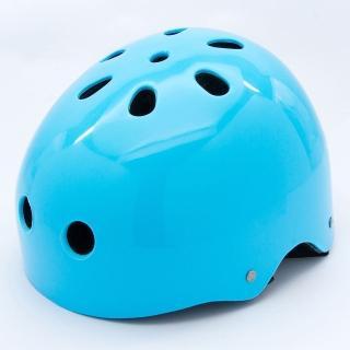 【D.L.D 多輪多】專業直排輪 溜冰鞋 自行車 安全頭盔(藍)