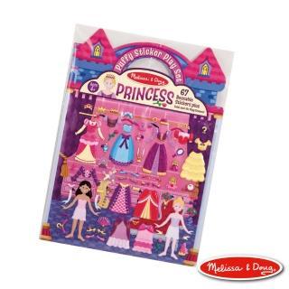 【美國瑪莉莎 Melissa & Doug】可重複貼泡泡貼紙遊戲書-公主的皇宮舞會