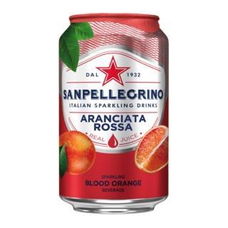 【聖沛黎洛】氣泡水果水 罐裝-紅橙口味(330mlx12瓶)