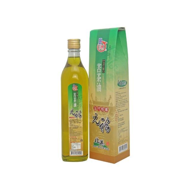 【北港 元福麻油廠】招牌養生頂級苦茶油(520CC-瓶)