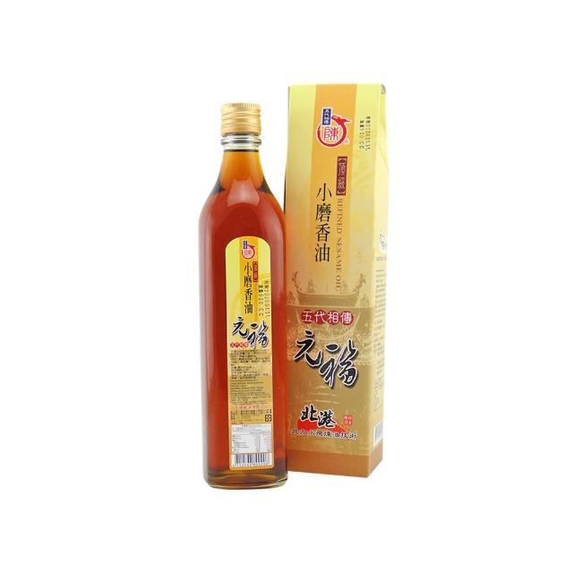 【北港 元福麻油廠】招牌頂級小磨香油(白麻油)(520CC-瓶)