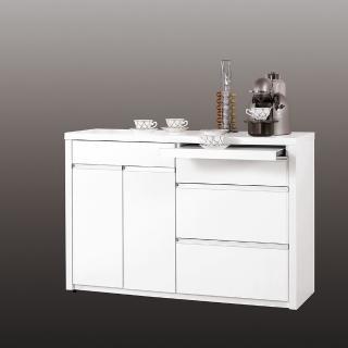 【H&D】卡尼爾4尺白色餐櫃/收納櫃