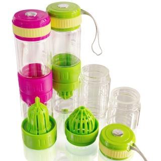 3合1多功能玻璃榨汁隨手瓶/檸檬杯(買一送一)