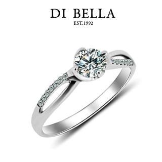 【DI BELLA】光采0.30克拉八心八箭18K白金戒