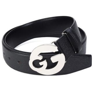 【GINZA U】經典雙G LOGO扣式皮帶(寬版L)