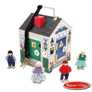 【美國瑪莉莎 Melissa & Doug】木製門鈴娃娃屋