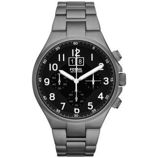 【FOSSIL】領袖資格三環計時腕錶-鐵灰(CH2905)