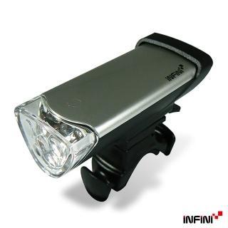 【INFINI】LUXO 高亮度LED自行車前燈I105(銀)