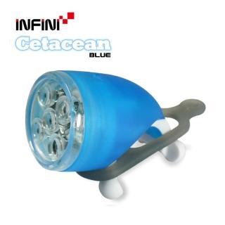 【INFINI】I-202W 時尚造型LED自行車前燈(藍)