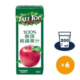 【Tree Top】100%樹頂蘋果汁200ml*6入