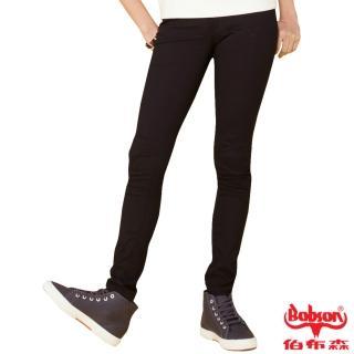 【BOBSON】女款亮光紗大彈力緊身褲(黑8111-88)