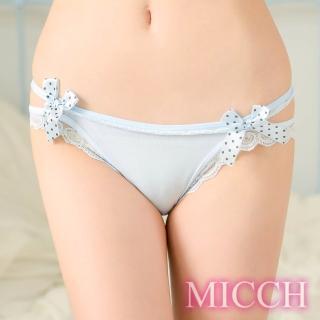 【MICCH】清澈水藍 側鏤空三角內褲