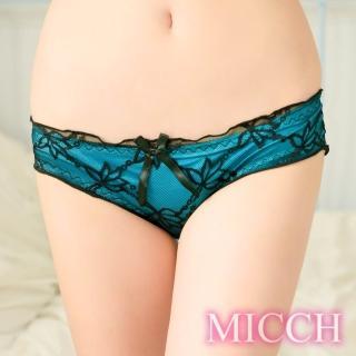 【MICCH】松石藍花漾拼紗迷人小褲/內褲