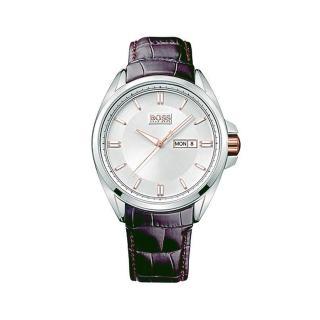 【Hugo Boss】時尚簡約紳士風格男腕錶(白x咖啡/45mm/1512876)