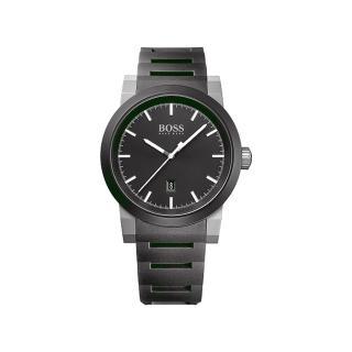 【Hugo Boss】時尚簡約休閒風格男腕錶(黑面/44mm/1512956)