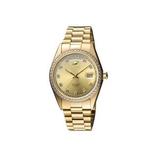 【ENICAR】英納格 自動恆動晶鑽機械腕錶-金/38mm(3169-50-39PI)