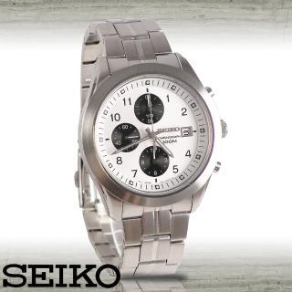 【SEIKO 精工】藍寶石水晶-限量賽車腕錶(SNDA91P1)