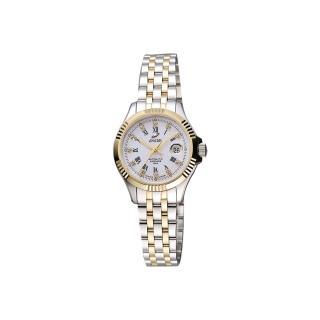 【ENICAR】英納格 自動系列璀燦晶鑽機械女錶-白x雙色版/28mm(778-50-329G)