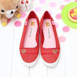 【童鞋城堡】拉拉熊懶懶熊經典刺繡休閒帆布鞋(KM8271)