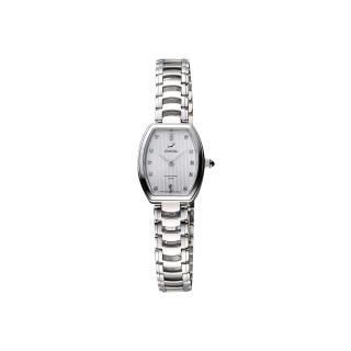 【ENICAR】英納格 優雅女仕酒桶晶鑽女錶-銀/20mm(262-30-131aA)