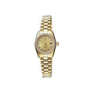 【ENICAR】英納格 經典晶鑽時尚機械女錶-金/25mm(778-50-39PI)
