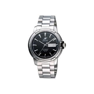【ENICAR】英納格 航行經典日曆機械腕錶-黑x銀/41mm(168-50-335aB)