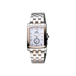 【ENICAR】英納格 典藏小秒針石英女錶-白x雙色版/30mm(266-32-25G)