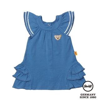 【STEIFF德國精品童裝】公主袖 洋裝 連身裙 藍(連身洋裝/褲)