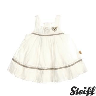 【STEIFF德國精品童裝】無袖 洋裝 連身裙 白(連身洋裝-褲)