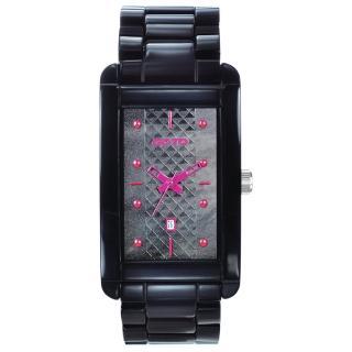 【GOTO】Unique 陶瓷時尚腕錶(黑x桃)