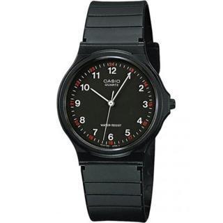 【CASIO 卡西歐】極簡時尚指針石英錶(黑-MQ-24-1B)