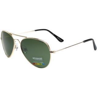 【Polaroid 寶麗來】-時尚太陽眼鏡(黑色/金色)