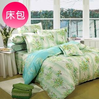 【Novaya 諾曼亞】《晴冉子》絲光綿單人二件式床包組(藍)