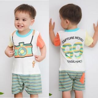 【baby童衣】包屁衣 撞色休閒連身衣42233