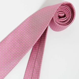 【極品西服】Teflon防潑水義大利領帶_粉色方點(YT0117)