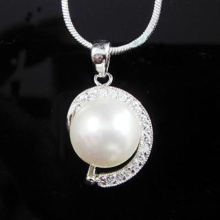 【蕾帝兒珠寶】-純愛白色貝珠墜
