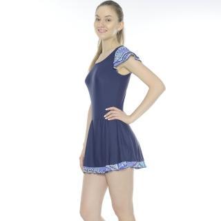 【Bich Loan】慧麗連身裙泳裝(附泳帽加贈白人旅遊組13006103)