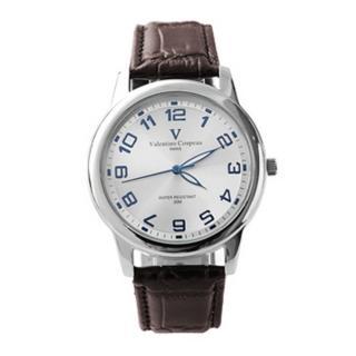 【Valentino范倫鐵諾】光碟錶盤設計真皮手錶腕錶 情人對錶(玖飾時尚NE1090)