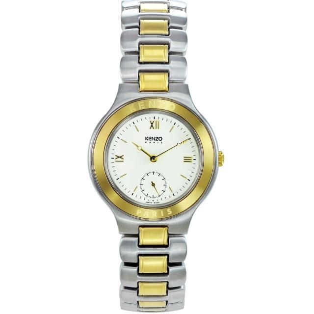 【KENZO】經典知性時尚腕錶-米白色(KN2511B03)