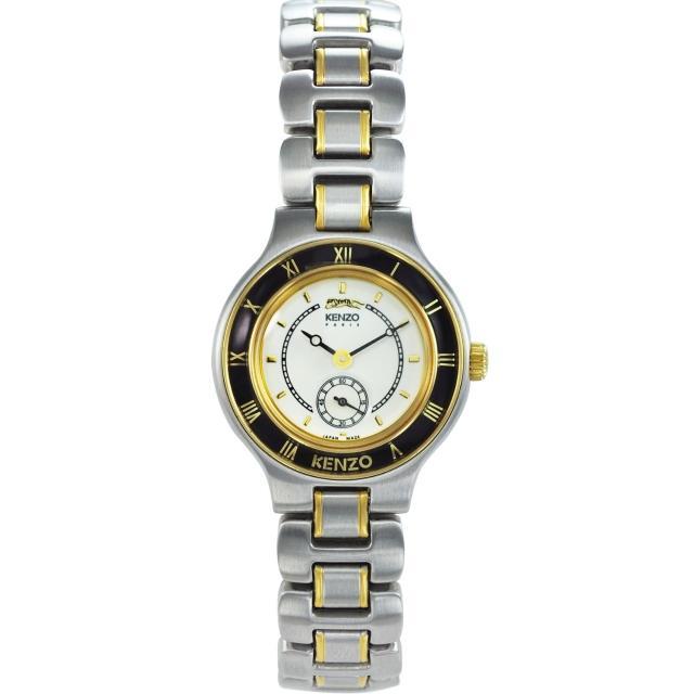 【KENZO】野性之美時尚腕錶-米白色(KN7612B04)
