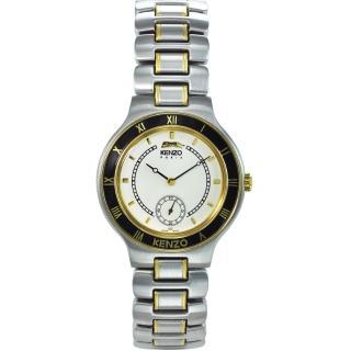 【KENZO】野性之美時尚腕錶-米白色(KN2611B04)