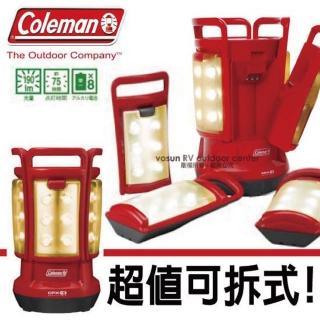 【美國 Coleman】CPX6 四合一LED營燈.可拆式手提燈(紅 CM-3183)
