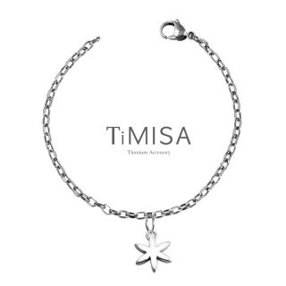 【TiMISA】花漾動感 純鈦手鍊(S)