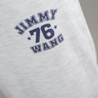 【Jimmy&Wang】男生涼爽淺灰色七分褲(網)