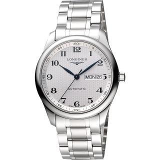 【LONGINES】Master 巨擘系列機械腕錶-銀/38.5mm(L27554786)