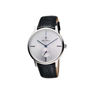 【Olympianus】奧柏 光輝時刻小秒針腕錶-銀-40mm(130-13MS)