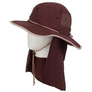 【Vital Silver 銀盾】VITAL SOFTDRY 抗UV收納款護頸圓盤帽(咖啡色)