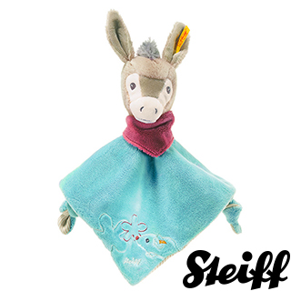 【STEIFF德國金耳釦泰迪熊】Issy Donkey 驢子(嬰幼兒安撫巾)