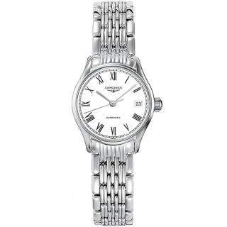 【LONGINES】Lyre 琴韻 羅馬美人機械腕錶-白-25mm(L43604116)